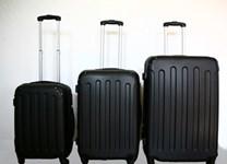 Sada plastových kufrů T-Class JD-2045, černá