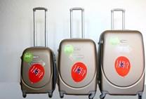 Sada plastových kufrů T-Class JD-XL s TSA zámkem