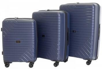 Sada 3 cestovních kufrů T-Class 1991  , DoubleLock - tmavě modrá