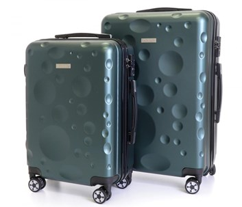 Sada 2 cestovních kufrů T-Class® TC628Z2 s TSA zámkem zelená