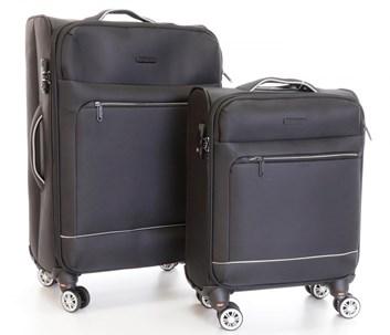Sada 2 kufrů T-Class CTS0010 textilní s  TSA zámkem, černá