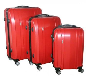 Sada 3 kufrů T-Class TPL7002 červená, TSA zámkem, rozšiřitelné, červená