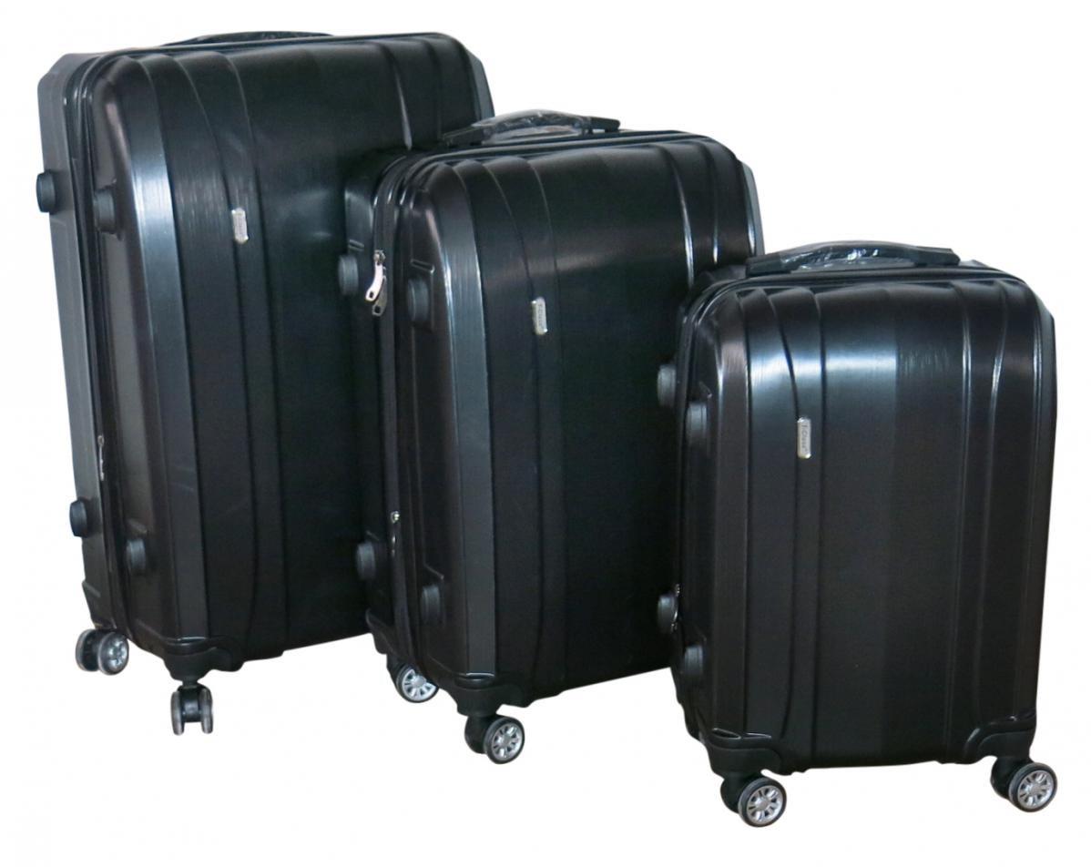 Sada 3 kufrů T-Class TPL-7002 červená, TSA zámek, rozšiřitelné, černá