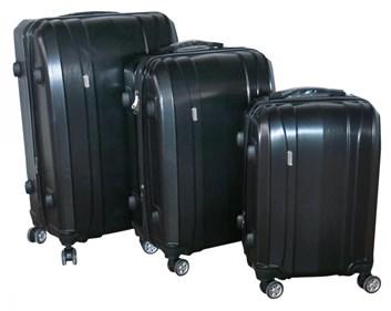 Sada 3 kufrů T-Class TPL7002 černá TSA zámkem, rozšiřitelné