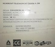 Teleskopický hliníkový žebřík RONO 6,2m