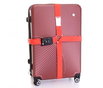 Křížový popruh na kufr s TSA zámkem (červená)