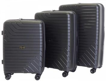 Sada 3 cestovních kufrů T-Class 1991  , DoubleLock - černá