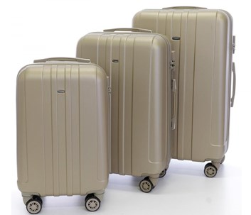 Sada 3 cestovních kufrů T-Class 902 champagne