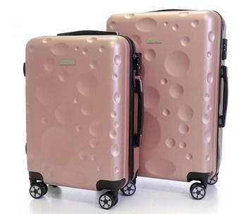 Sada 2 cestovních kufrů T-Class® TC628 s TSA zámkem  růžový