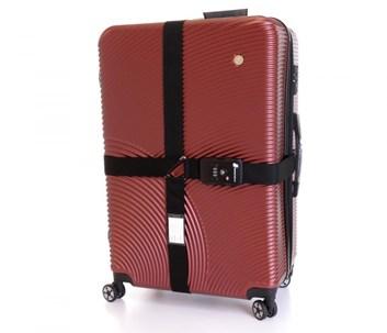 Křížový popruh na kufr s TSA zámkem (černá)