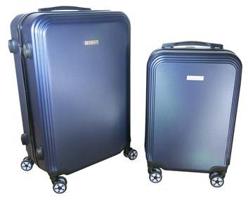 Sada 2 kufrů  T-Class®  TC1360M2 s TSA zámkem z ABS plastu modrá - POSLEDN ÍKUS