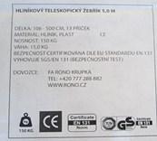 Teleskopický hliníkový žebřík RONO 5,0m