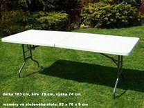 Skládací stůl, půlený 183cm