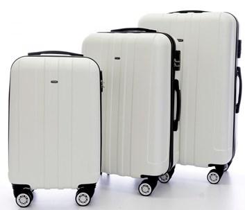 Sada 3 cestovních kufrů T-Class 902 bílá