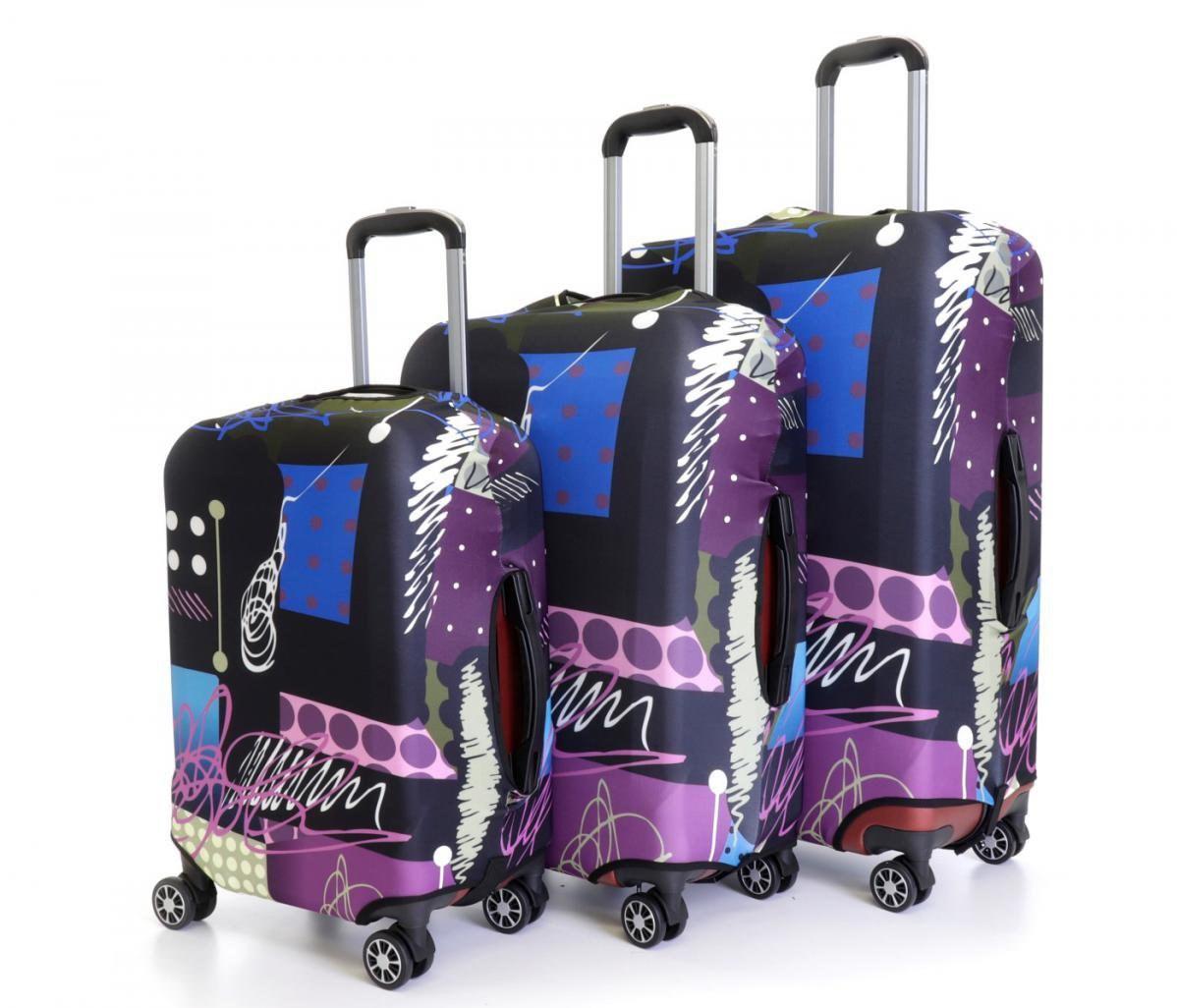 Sada 3 obalů na kufry  (malba)