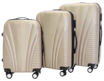 Sada 3 cestovních kufrů T-Class® TC3008  zlatá