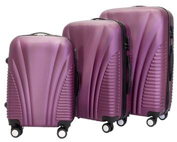 Sada 3 cestovních kufrů T-Class® TC3008 fialová