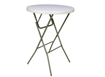 Skládací bufetový stolek průměr 80cm, HDPE
