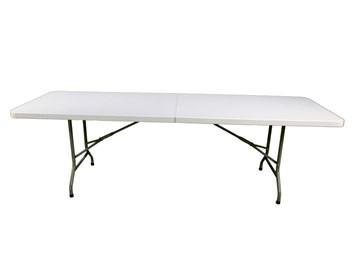 Skládací plastový stůl 244cm,HDPE Y244- půlený