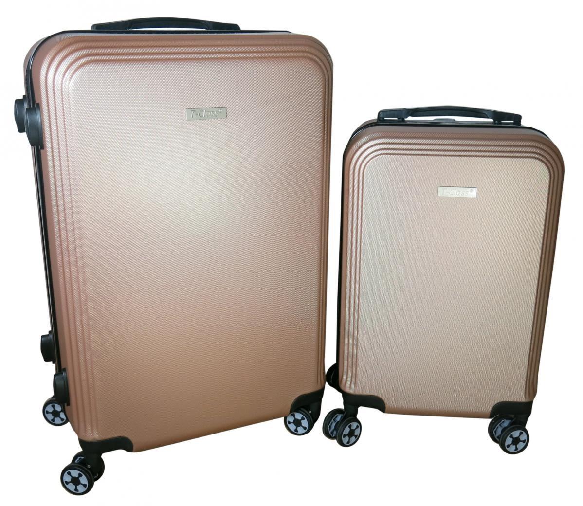 Sada 2 kufrů T-Class 1360 champagne , ABS plast, TSA zámek