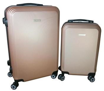 Sada 2 kufrů  T-Class®  TC1360CH2 s TSA zámkem z ABS plastu  champagne - POSLEDNÍ KUS