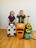 Dětský cestovní  kufr AUTO na dálkové ovládání  2,4GHz - zelené