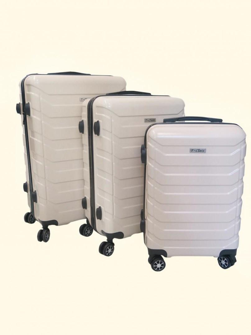 Sada 3 cestovních kufrů T-Class TC618 s TSA zámkem  béžová