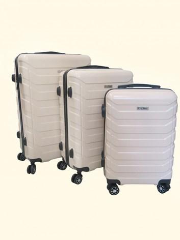 Sada 3 cestovních kufrů T-Class® TC618 s TSA zámkem  béžová