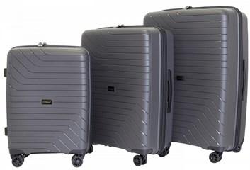 Sada 3 cestovních kufrů T-Class 1991  , DoubleLock - tmavě šedá