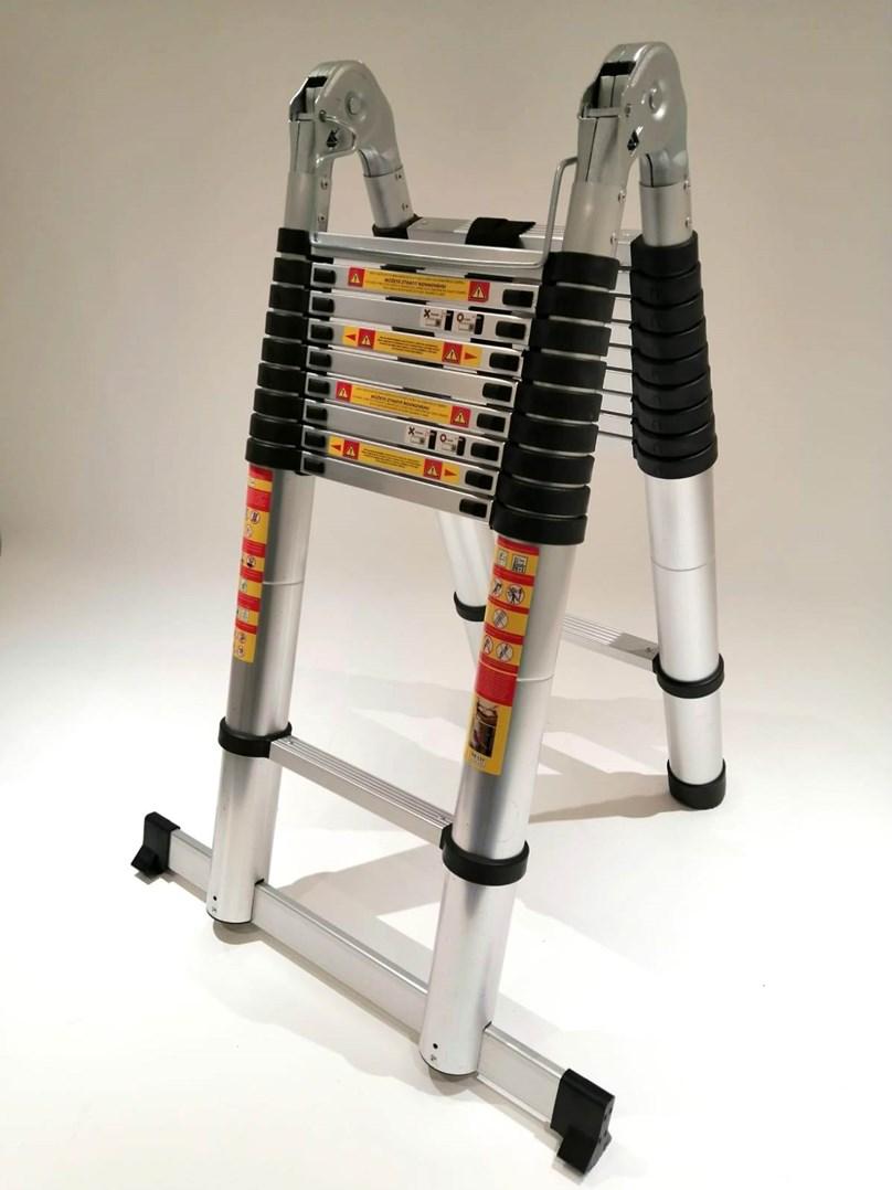 Teleskopické  hliníkové štafle / žebřík RONO  4 + 4m  / 8m