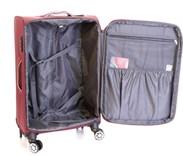 Sada 2 kufrů T-Class textilní s  TSA zámkem, černá