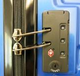 Sada 3 cestovních kufrů T-Class TC618 s TSA zámkem matná modrá