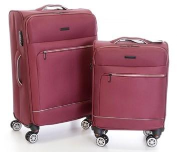 Sada 2 kufrů T-Class CTS0010 textilní s  TSA zámkem, vínově červená