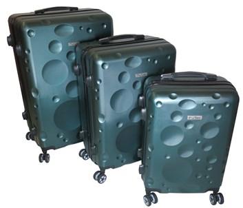 Sada 3 cestovních kufrů T-Class® TC628,s TSA zámkem matná zelená