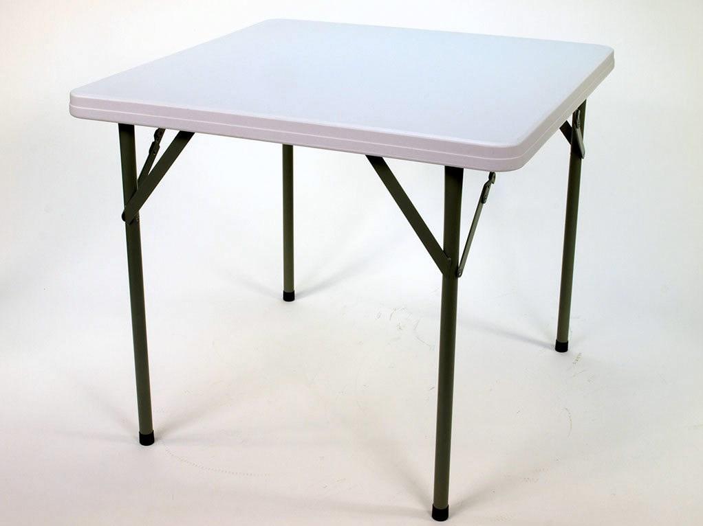 Skládací plastový stůl, čtverec 86 x 86 cm