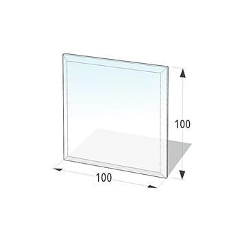 Lienbacher Sklo pod krbová kamna čtverec  100x100 cm s fazetou 20 mm síla skla 8 mm