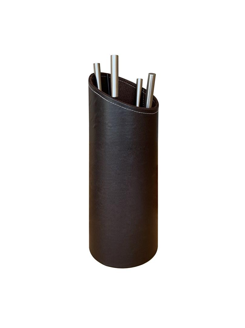 Lienbacher Designové  krbové nářadí imitace kůže  prům.  20cm/výška 55cm