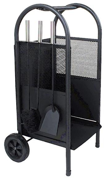 Lienbacher Vozík na dřevo s 3-díly nářadí, černé  š/h/v   35/30/81 cm