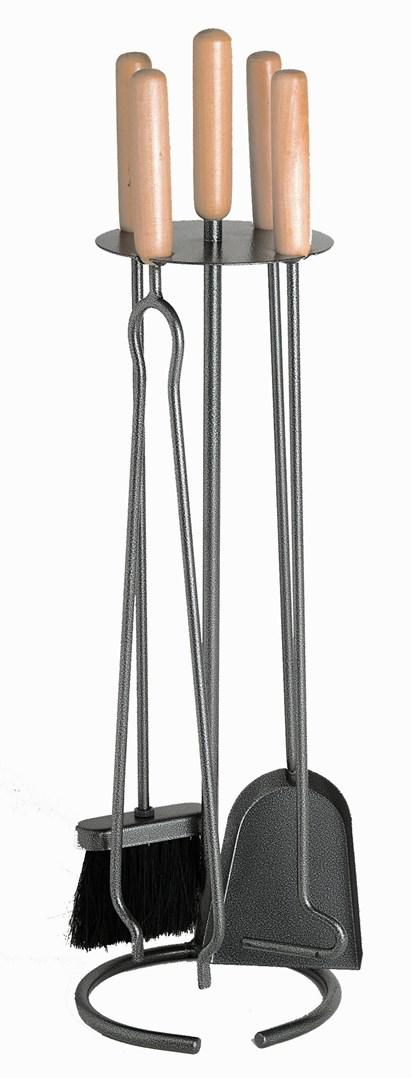 Lienbacher Krbové 4-dílné nářadí černé, rukojeť dřevo 20/73cm