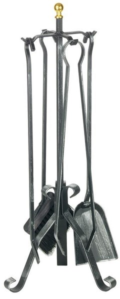 Lienbacher Krbové nářadí kované 4 díly, výška 66cm , mosazná koule