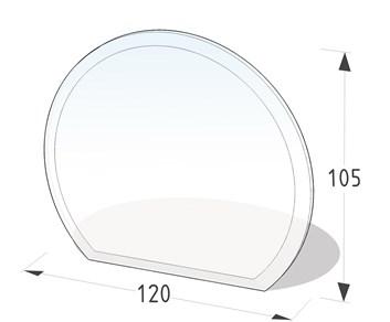 Lienbacher Sklo pod krbová kamna část kruhu  120x105 cm s fazetou síla skla 6mm