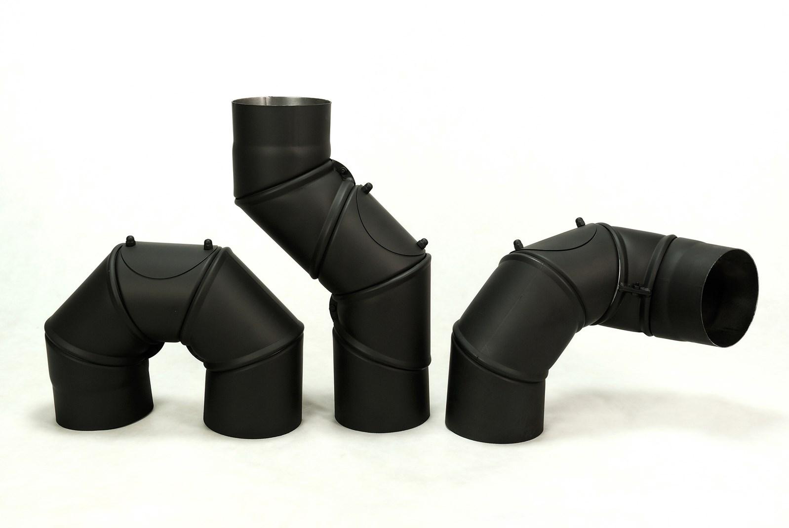 Koleno nastavitelný úhel 0-90° / 200mm/1,5mm  UNI čistící