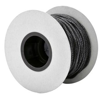 Těsnící šňůra kulatá, pletená černá  ø 10mm. Teplotní odolnost do 550°C