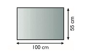 Lienbacher Sklo pod krbová kamna Obdelník 100x55 cm 3 hrany s fazetou síla skla 6mm