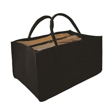 Lienbacher Taška na dřevo z plsti 50x34 cm, výška 27cm - černá