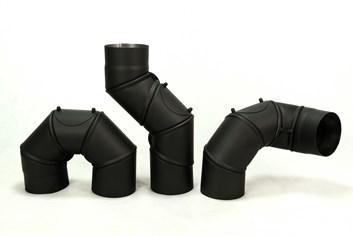 KOVO-Koleno nastavitelný úhel 0-180° / 150mm/1,5mm UNI čistící