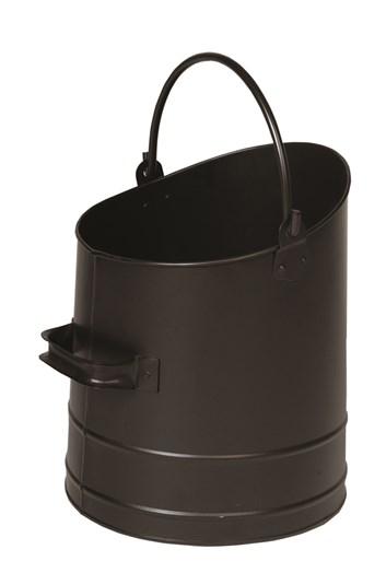 Lienbacher nádoba na uhlí, dřevo, nebo peletky - černá - matné. prům. 26, výška 32 cm