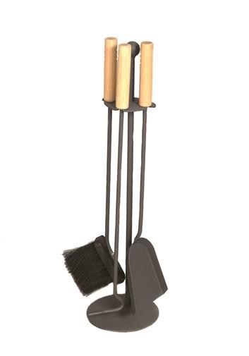 Lienbacher Krbové nářadí černé, rukojeť dřevo   16/64 cm