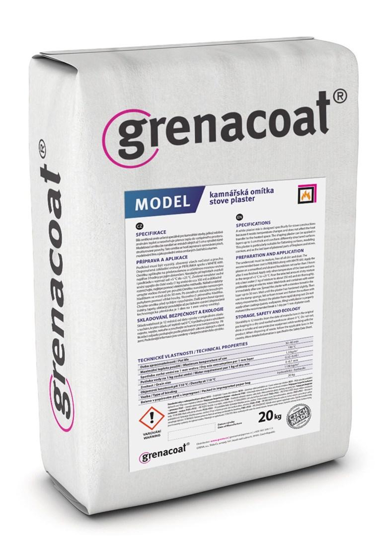 GRENACOAT kamnářská omítka MODEL. 200°C odolnost. Balení 20Kg