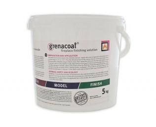 GRENACOAT Hafťák-žáruvzdorná malta, odolnost do 1100°C. Odolává přímému kontaktu s ohněm. Balení kyblík 5Kg